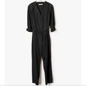 XiRENA Vintage Black Jumpsuit Long Sleeve
